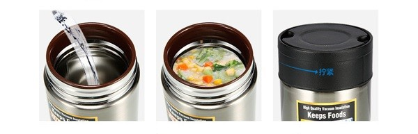 Zojirushi Stainless Steel Food Jar Sliver 550ml Sw Hae55 Xa